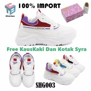 Harga sepatu kets sneakers wanita import sepatu olahraga sport wanita murah1   shg003 red | HARGALOKA.COM