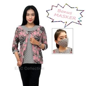 Harga blouse batik wanita model bolero pink kombinasi   atasan batik   s | HARGALOKA.COM
