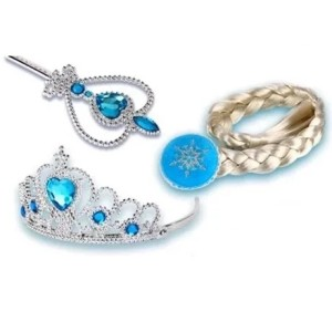 Harga talia frozen anna elsa terbaru disney princess gaun kostum jusyco   set mahkota | HARGALOKA.COM