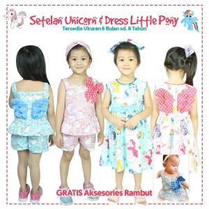 Harga dress amp setelan sayap unicorn amp pony bayi amp anak i bonus aksesoris   sampul | HARGALOKA.COM
