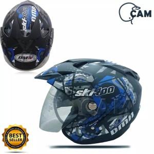 Harga helm motor sni double visor ski doo black doff | HARGALOKA.COM