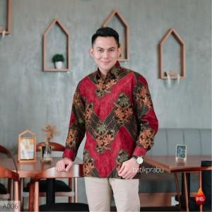 Harga baju kemeja batik pria lengan panjang pendek modern pesta kantoran g23   | HARGALOKA.COM