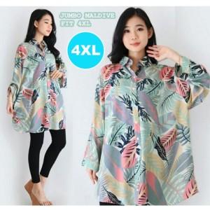 Harga kemeja wanita jumbo big size baju wanita ukuran besar | HARGALOKA.COM