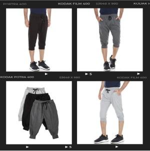 Harga celana joger 3 4 polos pria wanita bahan baby terry tebal harga grosir   hitam jog 3 4 all | HARGALOKA.COM