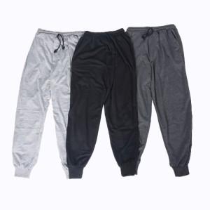 Harga celana jogger polos pria wanita bahan baby terry tebal harga grosir   hitam jogger all size m l | HARGALOKA.COM