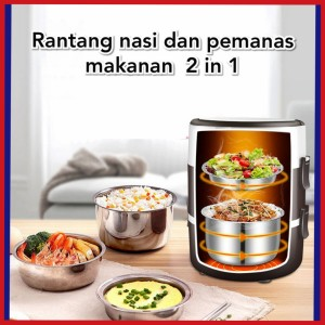 Harga rantang nasi lauk elektrik pemanas makanan   | HARGALOKA.COM