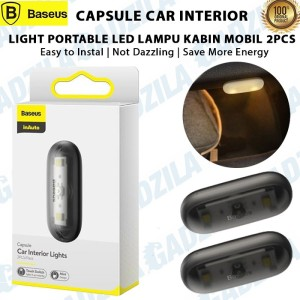 Harga baseus capsule car interior light portable led lampu kabin mobil 2pcs   | HARGALOKA.COM