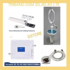 Harga triband penguat sinyal hp repeater boster antena gsm 2g 3g 4g   HARGALOKA.COM
