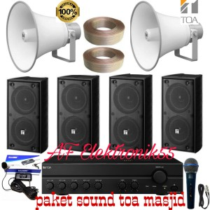 Harga paket sound system toa masjid speaker 4 horn speaker 2 | HARGALOKA.COM