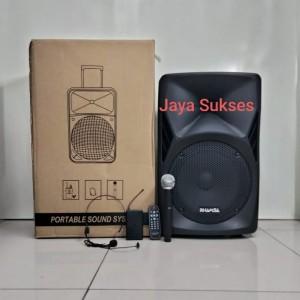 Harga speaker portable wireless rhamsa pa   012 12inch | HARGALOKA.COM
