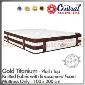 Harga spring bed central gold titanium plush top   mattress only   100 x 200 | HARGALOKA.COM