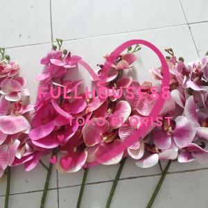 Harga bunga plastik buatan anggrek kupu kupu decorasi rumah bunga ungu | HARGALOKA.COM