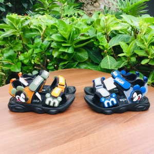 Harga sepatu sandal anak laki import gambar mickey mouse fashion kids   abu biru | HARGALOKA.COM