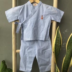 Harga piyama anak2 ryuki kimono set by daylee looks   biru muda 3 4 | HARGALOKA.COM