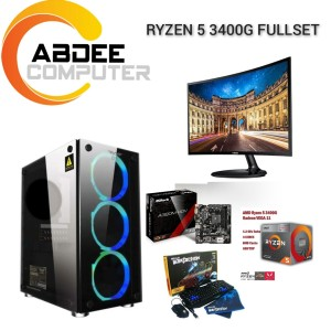 Harga pc gaming ryzen 5 3400 ddr 8 gb led 24 in samsung curved | HARGALOKA.COM