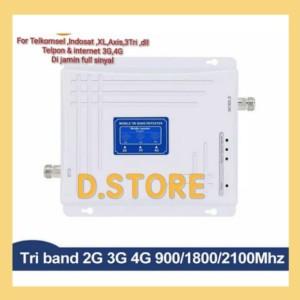 Harga triband boster penguat sinyal hp repeater antena gsm 2g 3g 4g   HARGALOKA.COM