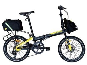 Harga sepeda lipat police texas bike to work 20 folding bike free tas   black   HARGALOKA.COM