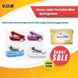 Harga springcome mesin jahit portable mini mesin jahit tangan spring come   | HARGALOKA.COM