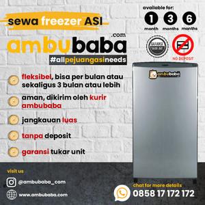 Harga sewa freezer asi   | HARGALOKA.COM