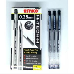 Harga pulpen kenko hi tech black harga 1 pack isi 12pcs | HARGALOKA.COM