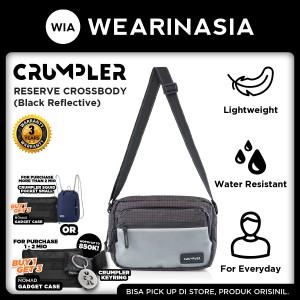 Harga tas pria wanita crumpler reserve crossbody black reflective | HARGALOKA.COM