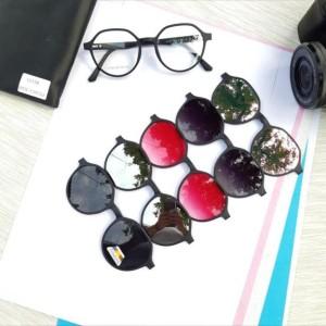 Harga gratis lensa   kaca mata pria wanita clip on segi   HARGALOKA.COM