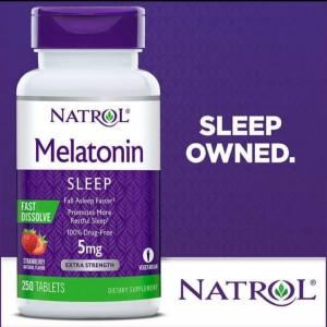 Harga natrol melatonin 5 mg 250 dissolve rasa strawberry   10mg 60 | HARGALOKA.COM