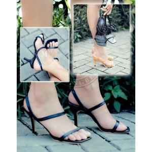 Harga high heels open toe stiletto hitam sepatu wanita casual formal   HARGALOKA.COM