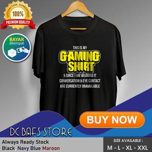 Harga baju kaos tshirt distro terbaru premium gamers this is my gaming shirt   merah   HARGALOKA.COM