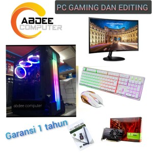 Harga pc gaming intel core i7 ram 16 gb ssd 120 gb with led 24 in | HARGALOKA.COM