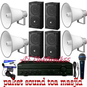 Harga paket sound system toa masjid 4 horn speaker 4 speaker ruangan | HARGALOKA.COM