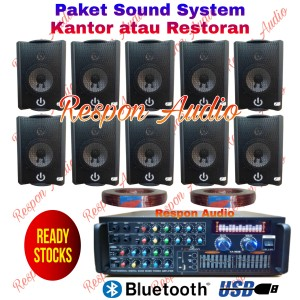 Harga paket sound system indoor speaker restoran kafe kantor 10 indoor   HARGALOKA.COM