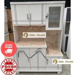 Harga promo rak piring lemari piring minimalis 3p magiccom full duco | HARGALOKA.COM