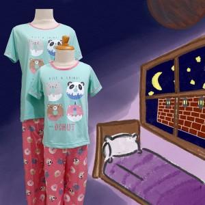 Harga baju tidur anak anne claire 4 donuts st lgn pdk cln pjg   | HARGALOKA.COM