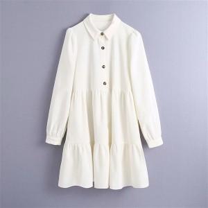 Harga tiered corduroy dress pink white   putih | HARGALOKA.COM