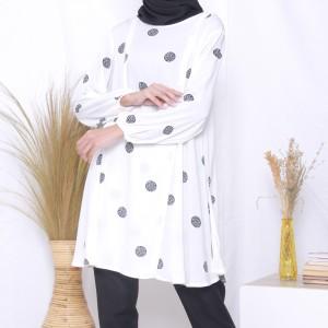 Harga baju hamil menyusui mahira tunik   vanilla s | HARGALOKA.COM