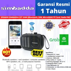 Harga simbadda portable bluetooth speaker cst 330n 330 n black | HARGALOKA.COM