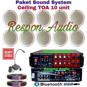 Harga paket speaker ceiling toa sound system indoor kafe restoran 10 pcs   HARGALOKA.COM