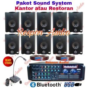 Harga paket sound system speaker restoran kafe kantor 10 indoor mic   HARGALOKA.COM