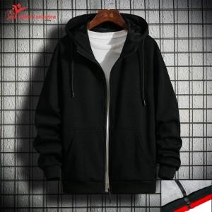 Harga jaket sweater polos hoodie zipper jumbo   hitam  | HARGALOKA.COM