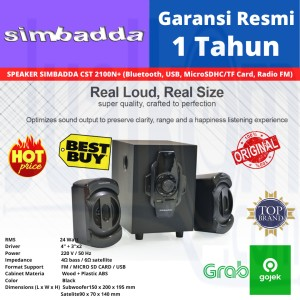 Harga speaker simbadda cst 2100n plus music player bluetooth usb | HARGALOKA.COM