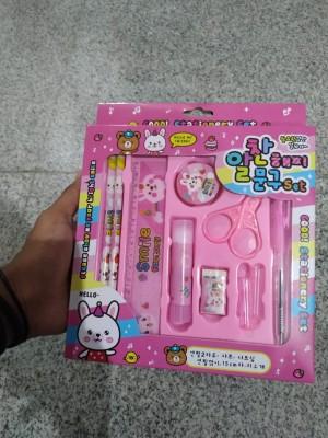 Harga paket alat tulis pensil set 8 in 1 karakter anak pensil bolpoin rautan   merah | HARGALOKA.COM