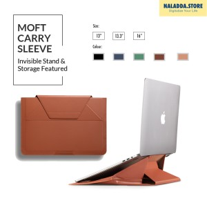 Harga moft 2 in 1 tas laptop sleeve amp stand for macbook amp universal laptop   sienna brown 13 34 | HARGALOKA.COM