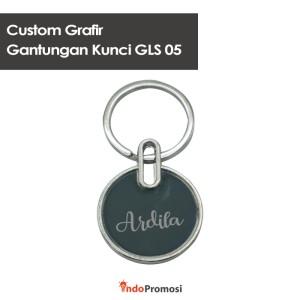 Harga custom grafir keychain gantungan kunci gls 05  satuan | HARGALOKA.COM