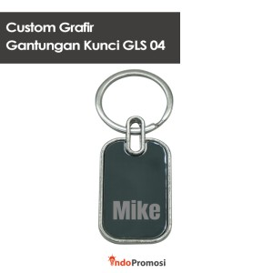 Harga custom grafir keychain gantungan kunci gls 04  satuan | HARGALOKA.COM