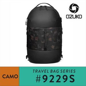Harga tas travel backpack pria ozuko 9229s waterproof travel bag ransel laki   | HARGALOKA.COM