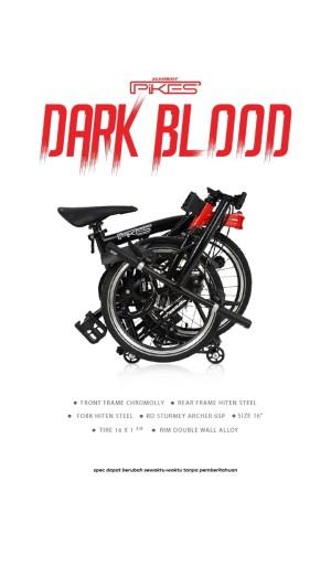 Harga sepeda element folding bike pikes gen 2 dark blood     HARGALOKA.COM