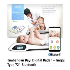 Harga timbangan bayi digital tinggi badan bluetooth onemed   HARGALOKA.COM