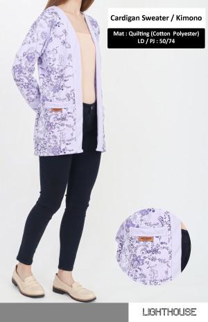 Harga cardigan by raynanh   cardigan kimono sweater cardigan motif   ungu   HARGALOKA.COM