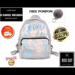 Harga tas ransel wanita hologram free gantungan kunci   HARGALOKA.COM